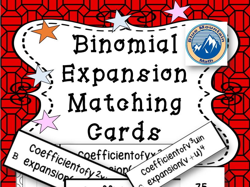 Binomial Expansion Coefficients Matching Card Set