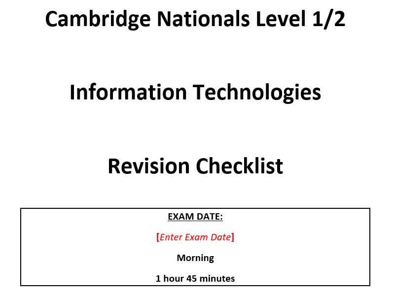 R012 Revision Checklist