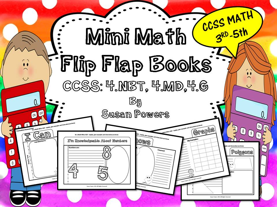A Math Assessment Flip Flap Book