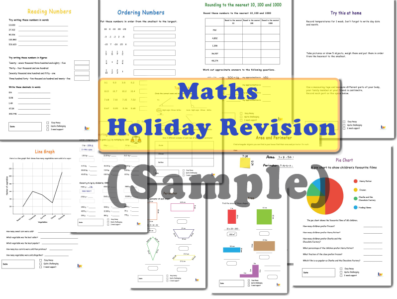 Maths Holiday Revision (Sample)