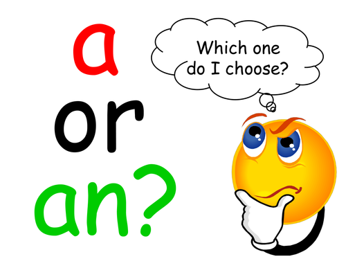 A or AN? - Worksheets & PowerPoint