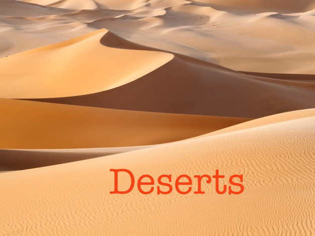 deserts - a creative writing resource