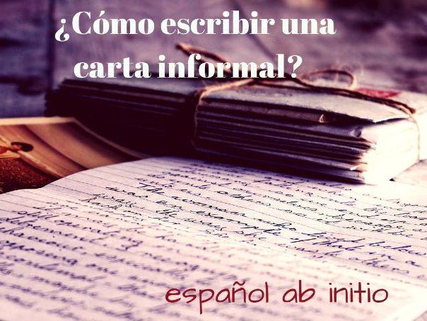 Ab initio cómo escribir una carta informal. Ab initio, how to write an informal letter