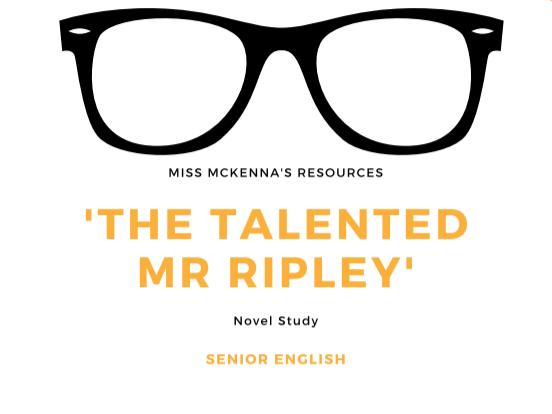 'The Talented Mr Ripley' Novel Study