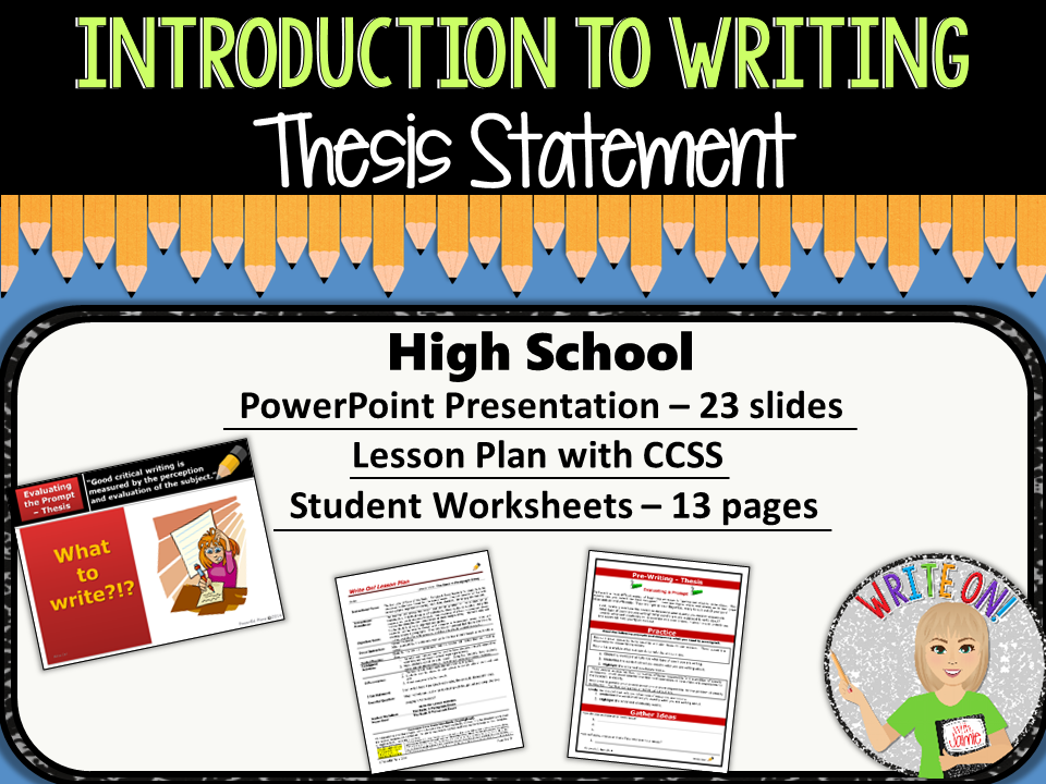 writing a thesis statement high school Qualities of a good thesis statement: • a good thesis is specific – avoid vague words o poor example: playing basketball is great o better example: playing basketball will improve athletic skills • a good thesis is not a title o.