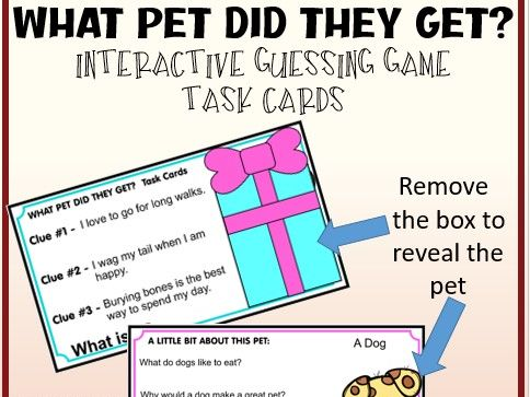 WHAT PET SHOULD I GET? Guessing Game Distance Learning Google Slides