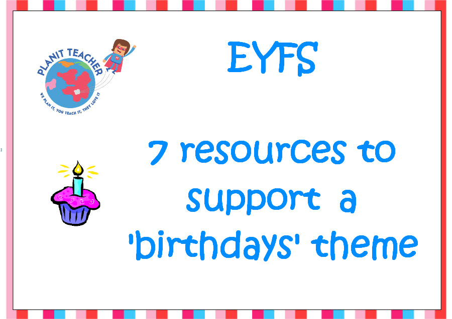 EYFS  'Birthdays' Resources - Set of 7