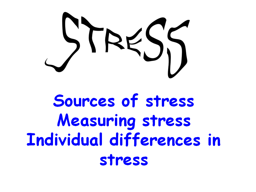 AQA Psychology- Sources of stress, measuring stress, individual differences