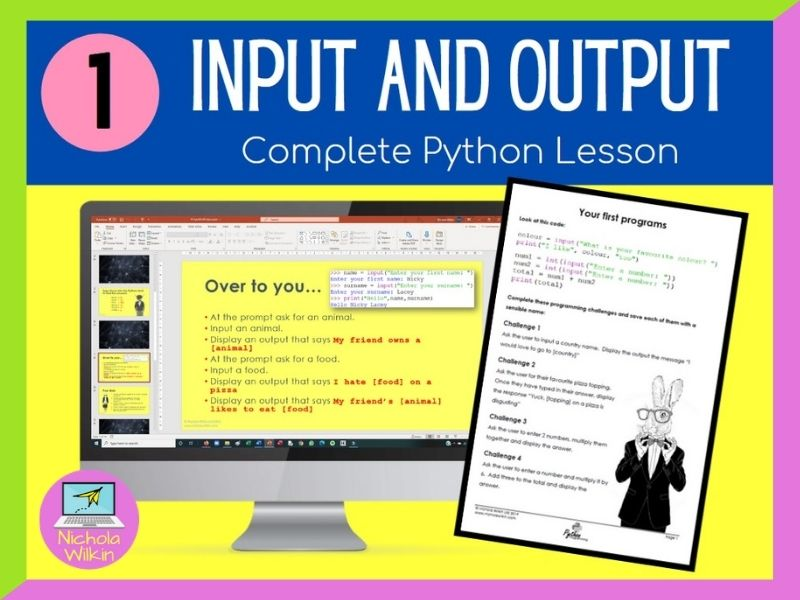Python Input and Output Lesson