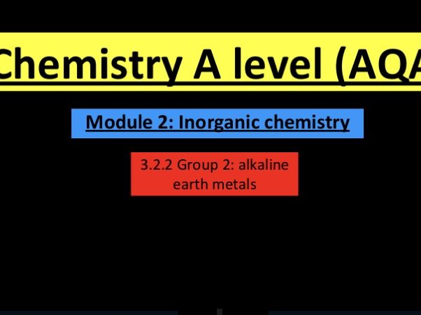 A Level chemistry group 2 lesson