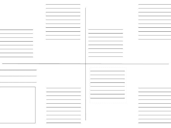 8 page zig-zag book template