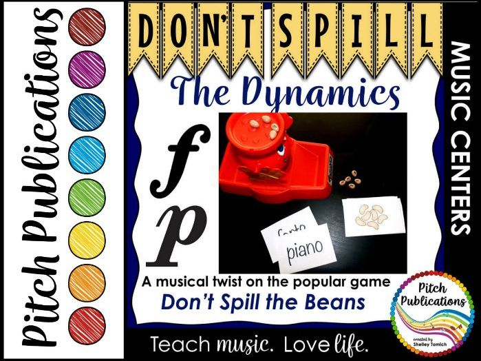 Music Center: Don't Spill the Dynamics! - Dynamics Symbol Reading Game