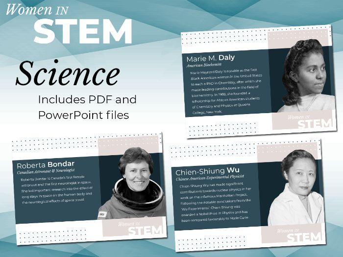 Women in STEM Posters - Science