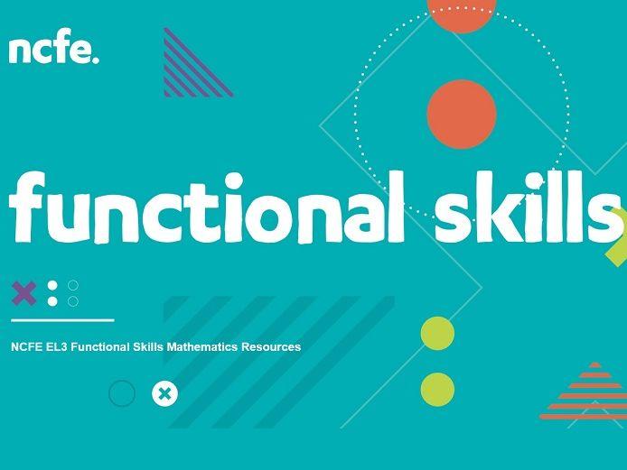 NCFE EL3 Functional Skills Mathematics Resources