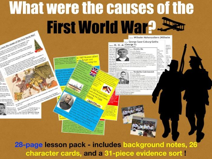 First World War Causes - 28 page lesson pack
