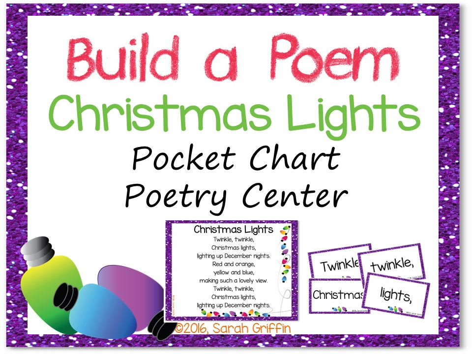 Build a Poem - Chrismas Lights - Pocket Chart Center