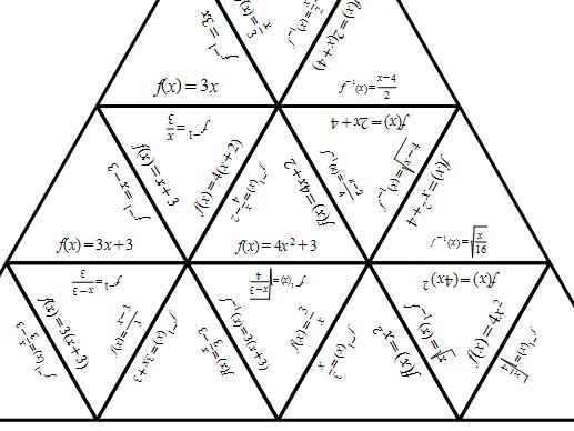 Inverse functions Tarsia Puzzle
