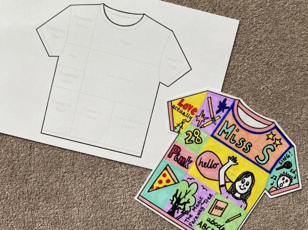 T-Shirt First Day Activity (editable)