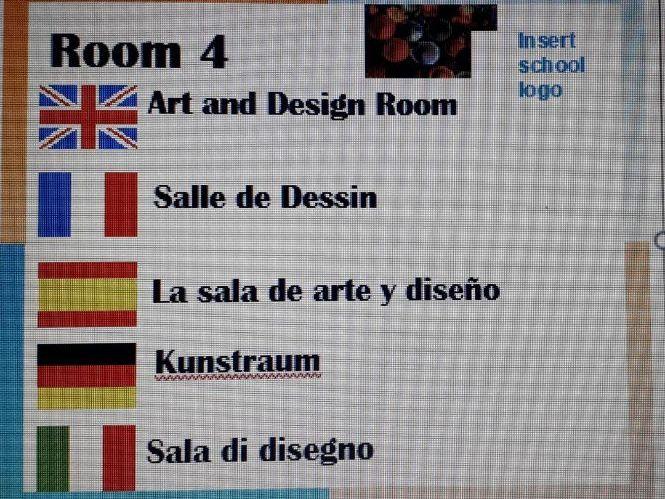 Whole School Multi-lingual Door Labels