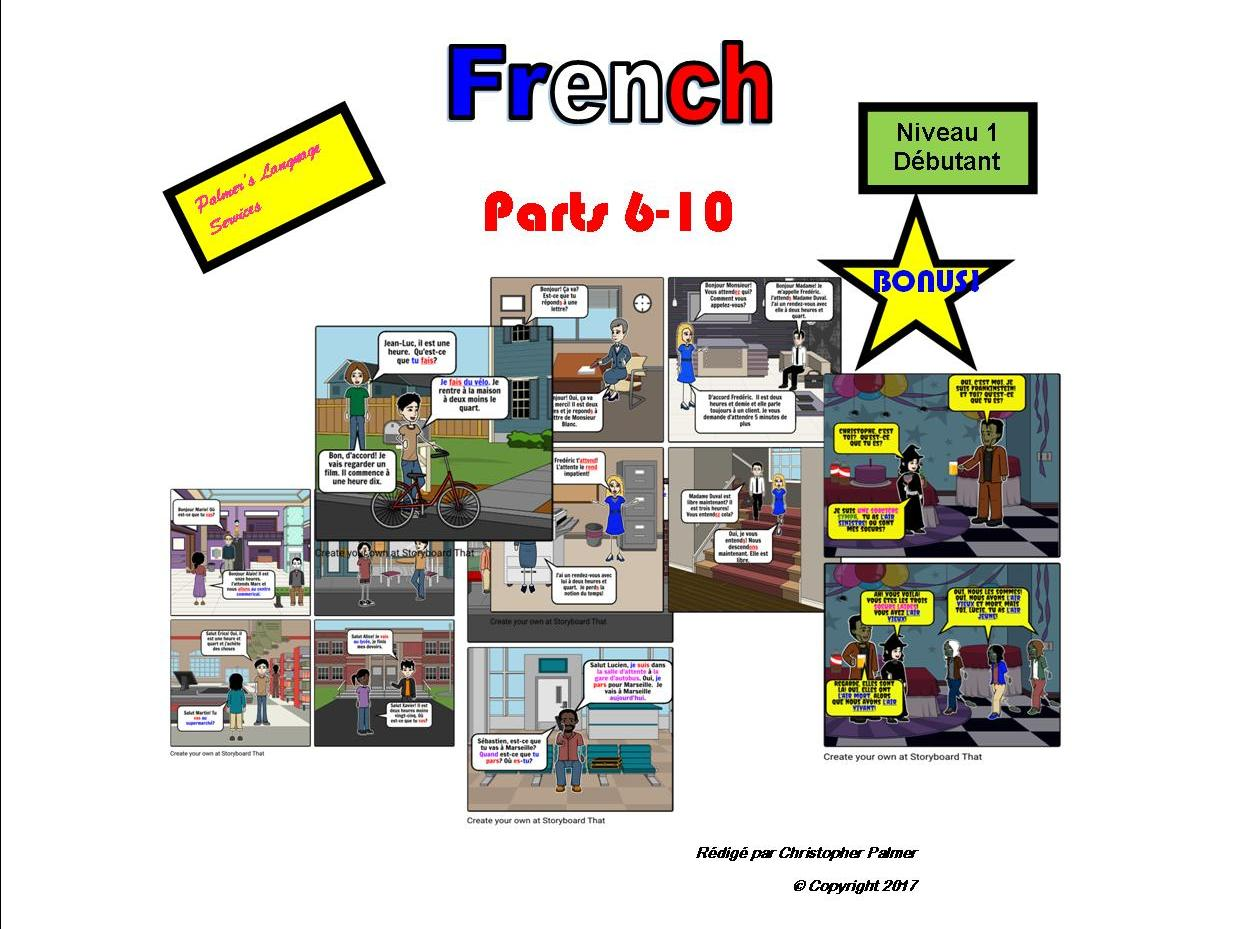 French for Adults: Beginners: Parts 6 to 10 (Only £8!!) Plus bonus Halloween resource!