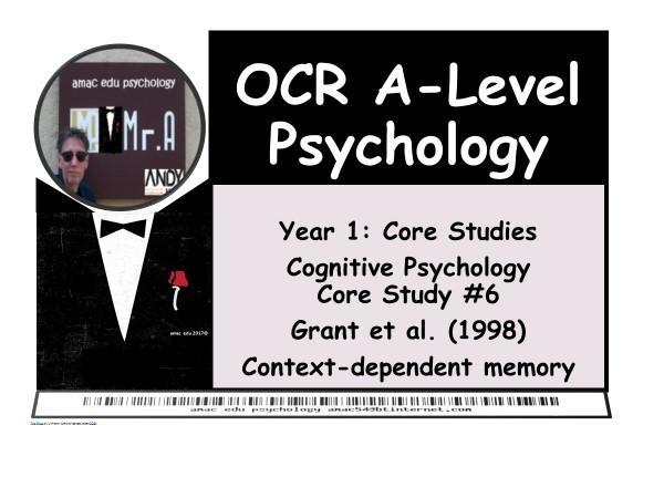 OCR A-Level Psychology: Core Study #6 Grant et al (1998)