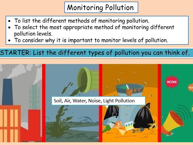 Monitoring Pollution KS3