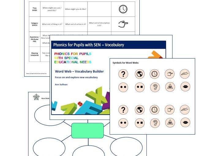 Word Web Vocabulary Builder - Phonics for SEN