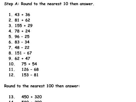 KS2 Rounding and Estimation