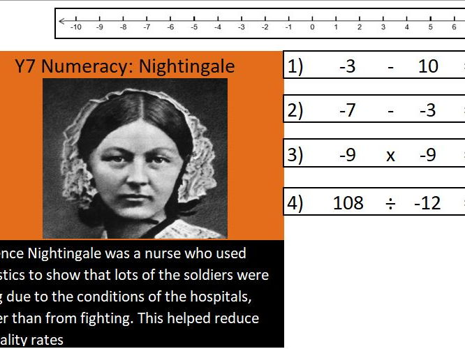Basic skills maths starters:  Level 2 of 6:  Nightingale