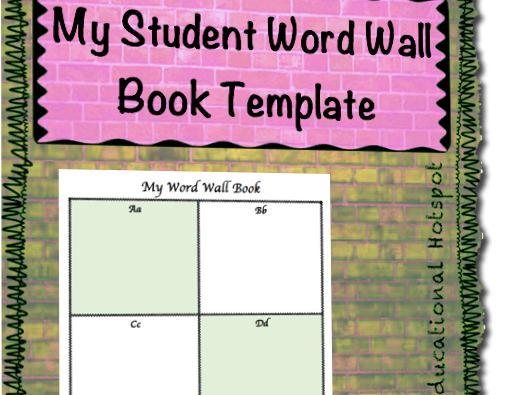 Student Personal Word Wall Book