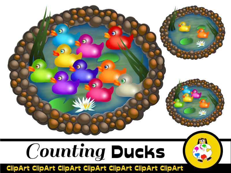Printable Counting Ducks Activity