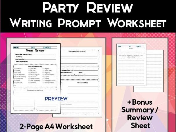 Party Review Worksheet