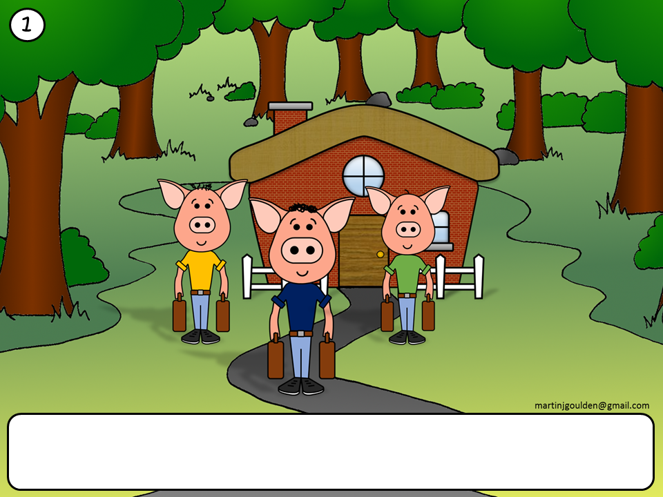 Three Little Pigs Story Blank Text Boxes