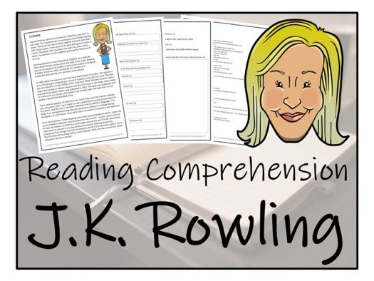 UKS2 Literacy - J.K Rowling Reading Comprehension Activity