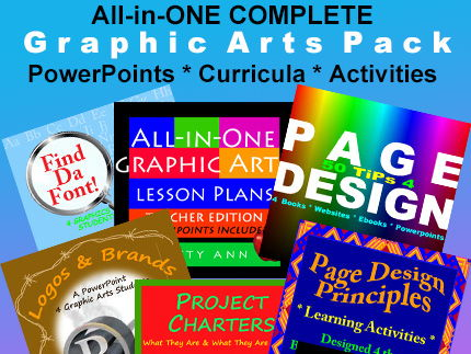 Graphic Arts Bundle> Activities + Projects + PowerPoints=Complete Semester Pack!