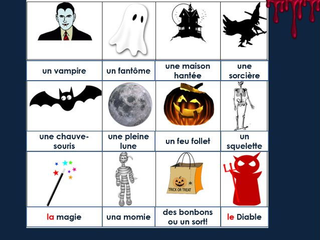 KS3/4 French- Halloween in France / L'Halloween en France (CLIL & SMSC)