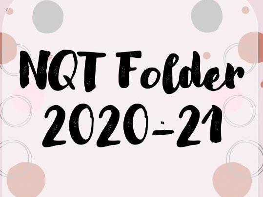 NQT folder pages