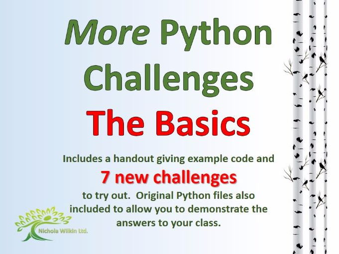 MORE Python Challenges - The Basics
