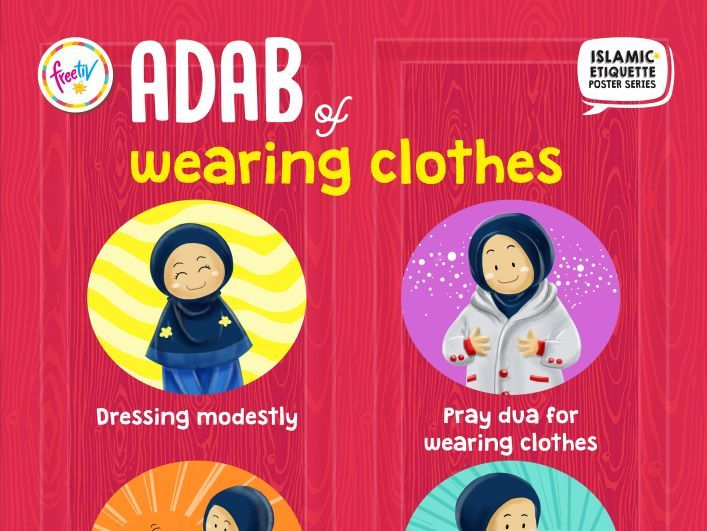 Islamic Etiquette Poster 04 - Wearing Clothes