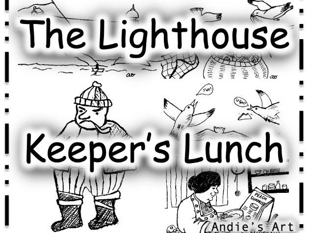 Cut, sequence and write about The Lighthouse Keeper's Lunch KS1 Kindergarten