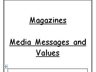 Magazines Media Messages and Values Student Workbook