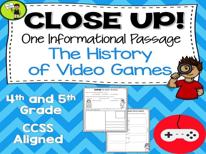 The History of Video Games - One Non Fiction Passage with Text Dependent Questions - US