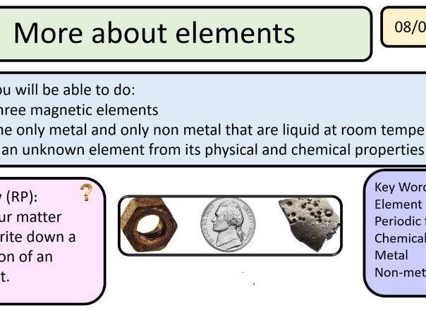New Activate AQA 1 Reactions - metals and non-metals unit 6 lessons KS3
