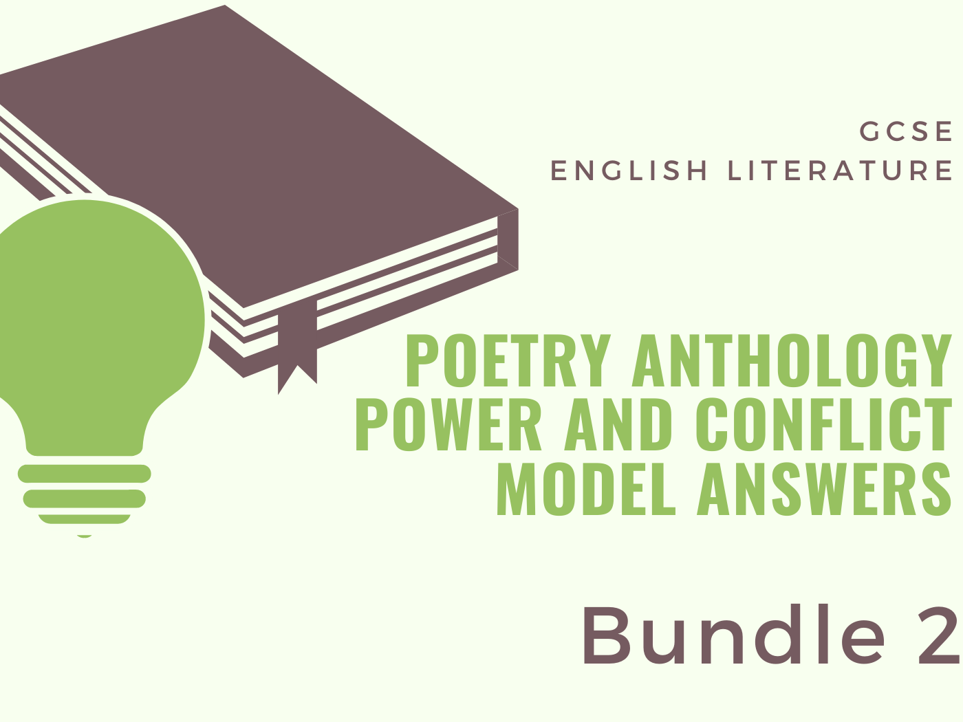 Power and Conflict - Poetry Anthology: Model Answers 2