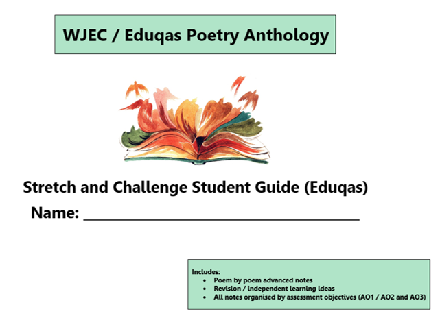 GCSE 9-1 Eduqas / WJEC Poetry Anthology Scheme of Work / Learning