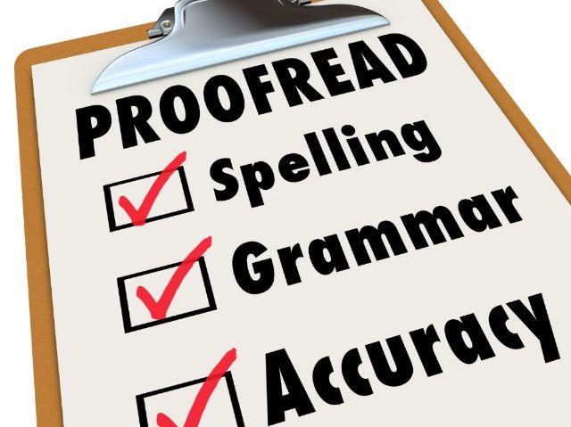 PROOFREADING SKILLS- Common Typing Errors- KS3 or KS4