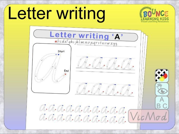 Letter writing practice using Victoria Modern Cursive font distance learning worksheets