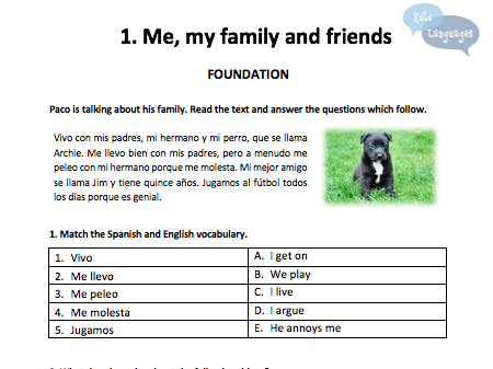 Spanish GCSE Reading Workbook free sample