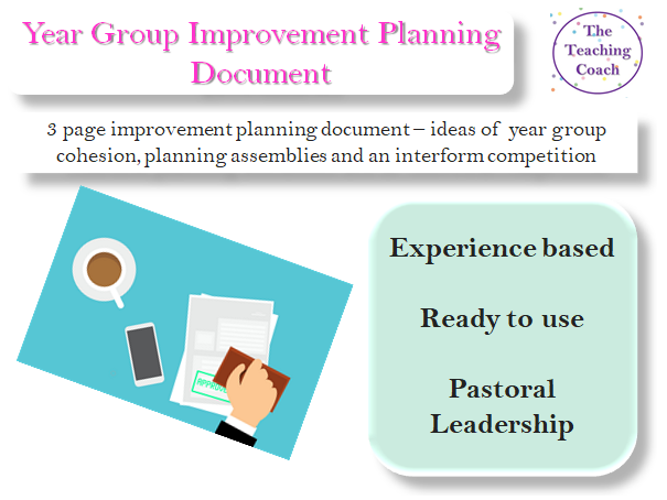 Year Group Planning - Improvement Planning - Year Group Focus - Intervention Strategies