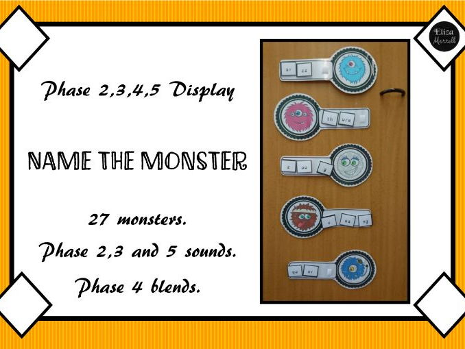 Phonics Display - Give the Monsters a Nonsense Name